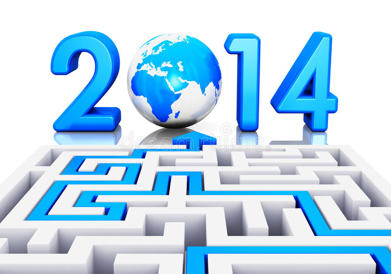 New Year 2014 concept royalty free illustration