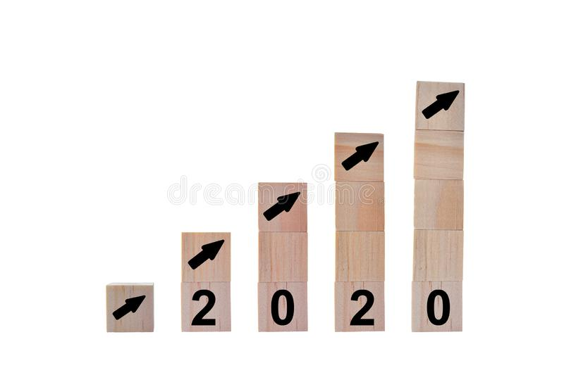 New Year 2020 concept. stock images