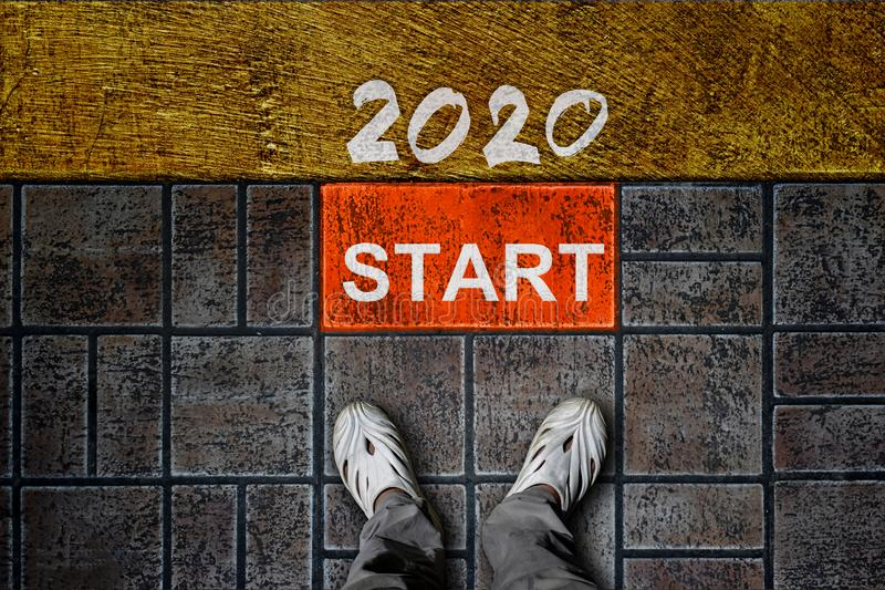 New Year 2020 concept. royalty free stock photography