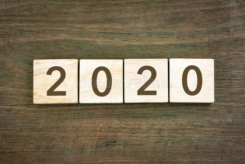 New year Concept 2020 number and typography text stock image