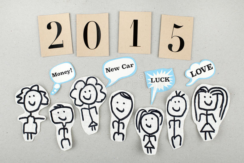 2015 New Year Concept stock photos