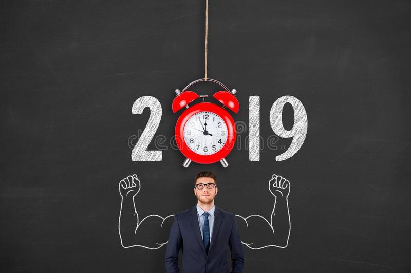 New year concepts 2019 countdown clock. New year concepts royalty free stock image