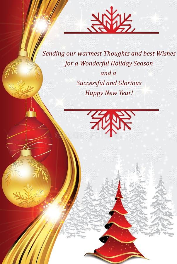 New Year Corporate Greeting Card Stock Illustration - Illustration ...