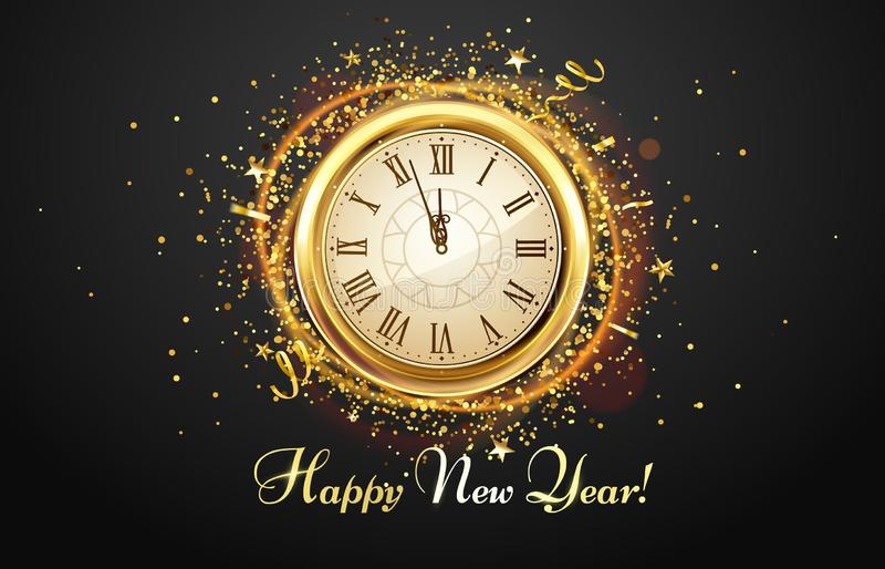 New Year Countdown. Vector stock vector. Illustration of ...