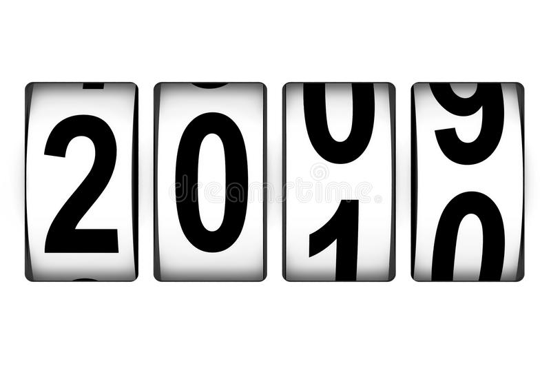 New Year counter stock illustration