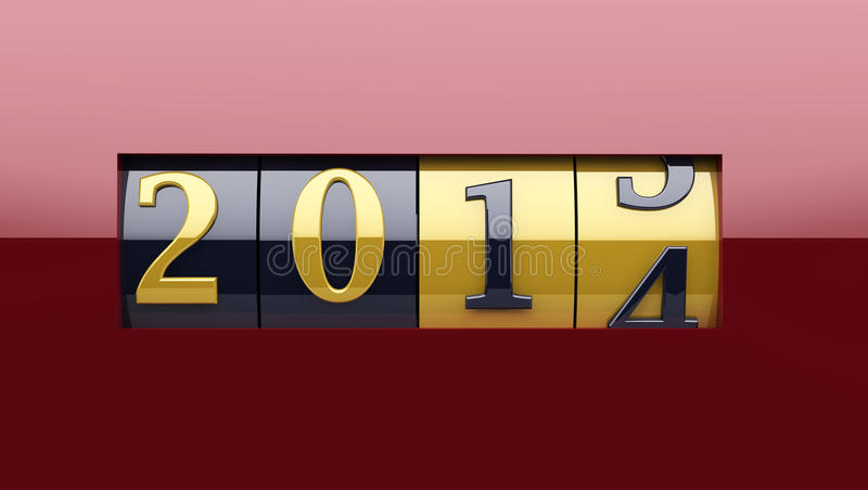 New Year counter 2014 royalty free stock photo