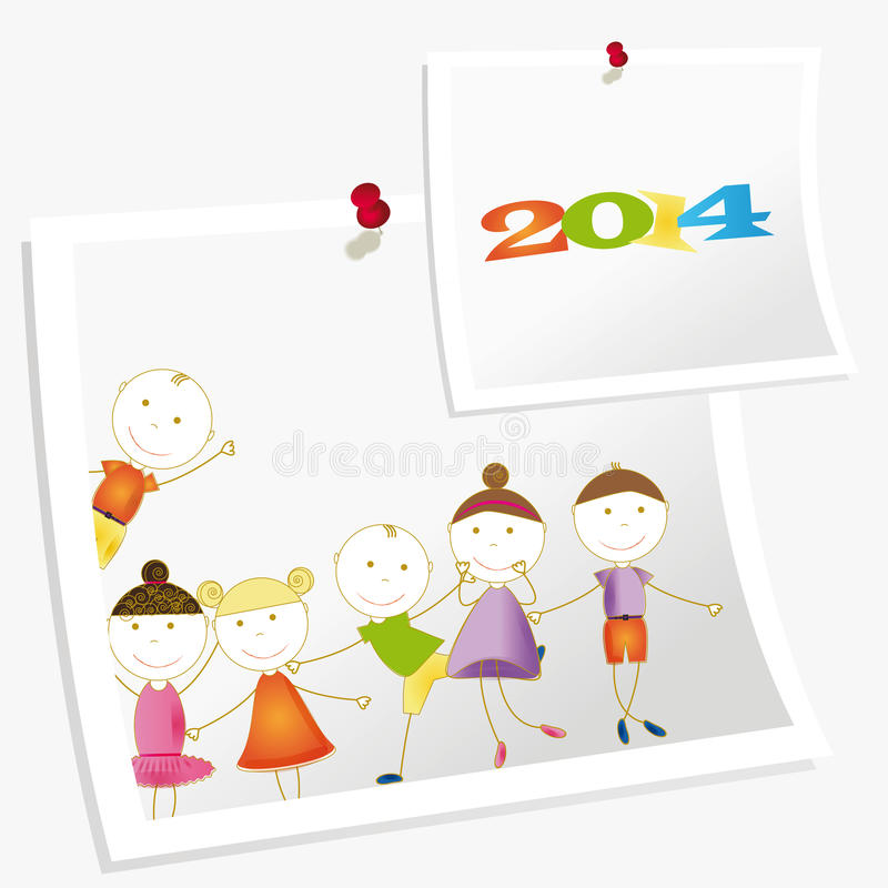 Download New Year 2014 stock vector. Illustration of simple, holiday - 32201275
