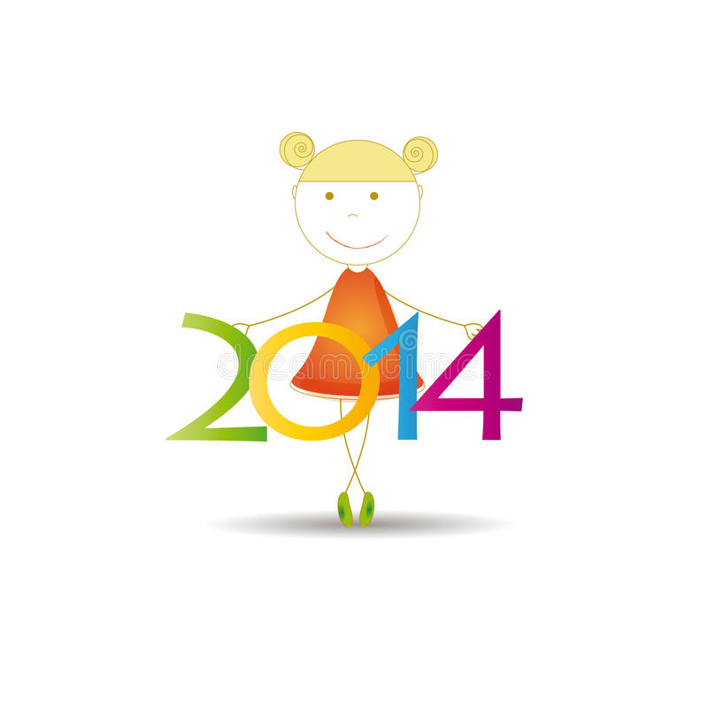 Download New Year 2014 stock vector. Image of greeting, back, numbers - 32201282