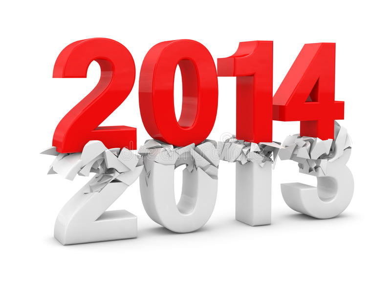 Download New year 2014 stock illustration. Image of modern, year - 33873041