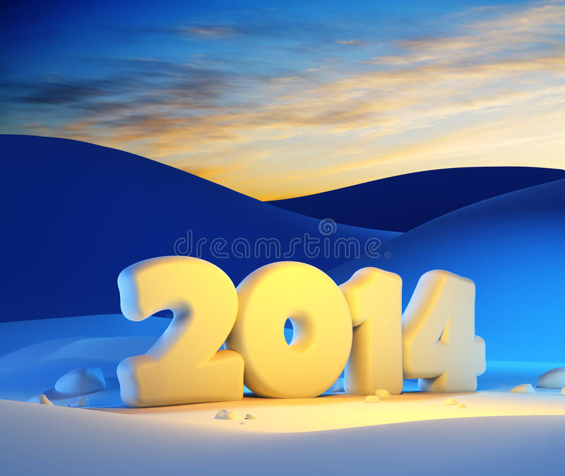 Download New year 2014 stock illustration. Image of christmas - 34620110