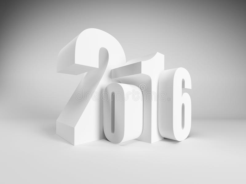 New year 2016. 3d render royalty free illustration