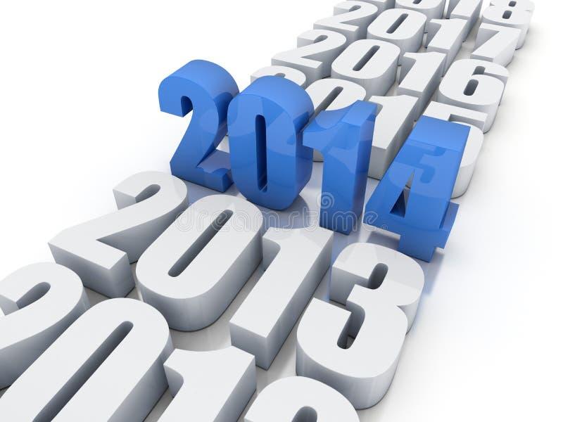 Download New year 2014 stock illustration. Image of horizontal - 33726284