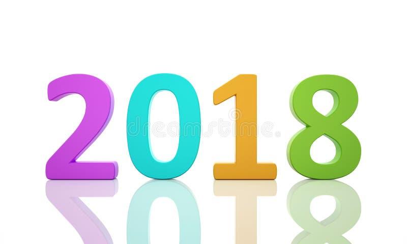 New Year 2018 vector illustration