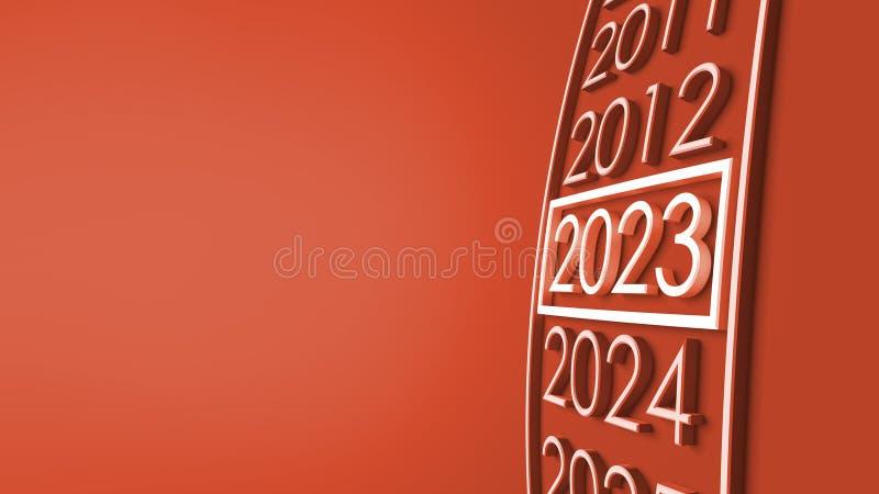 2023 3d rendering. stock illustration