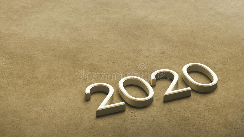2020 3d rendering. stock illustration