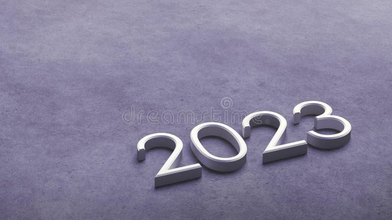 2023 3d rendering. royalty free illustration