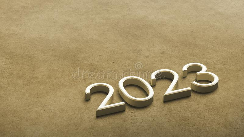 2023 3d rendering. vector illustration