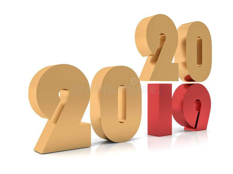 New year 2020 ,3d stock images