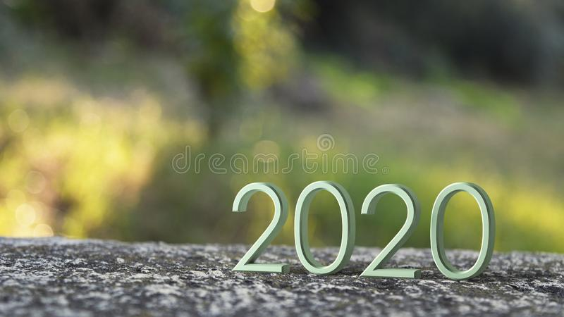 2020 3d rendering. royalty free illustration