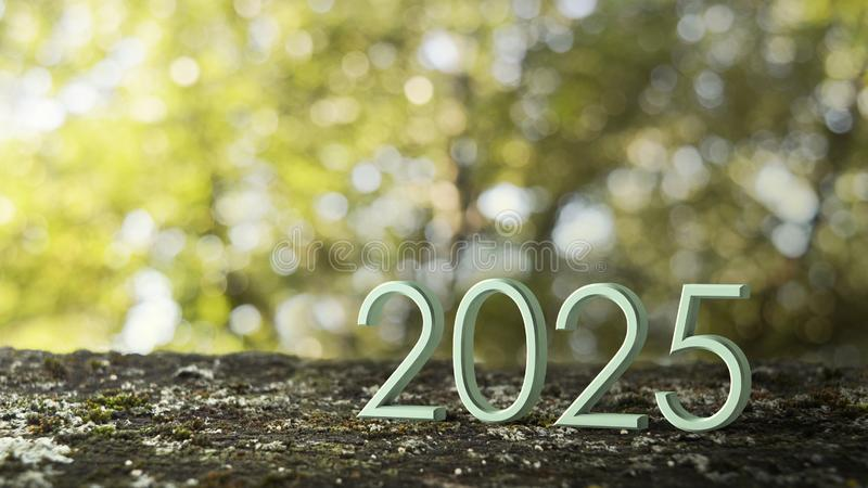 2025 3d rendering. stock illustration