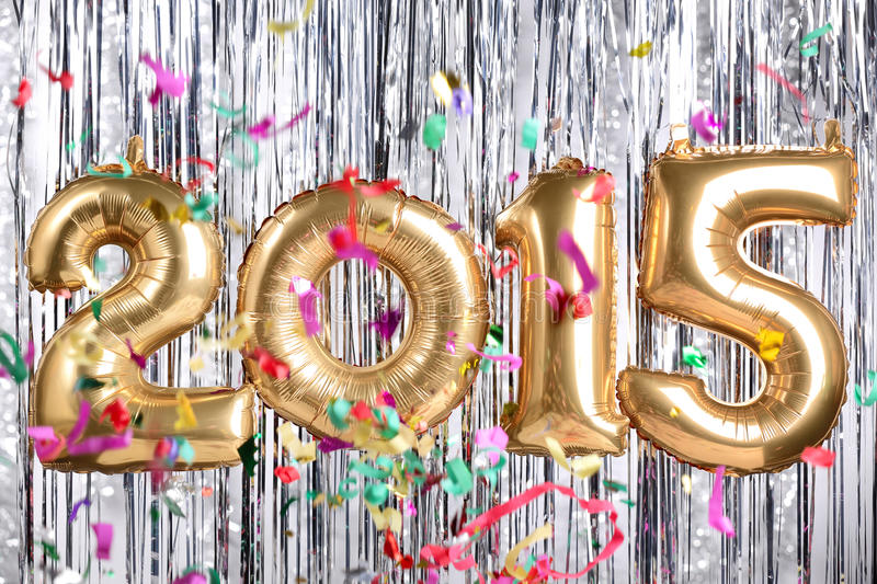 2015 new year decoration. New year decoration with 2015 royalty free stock photos