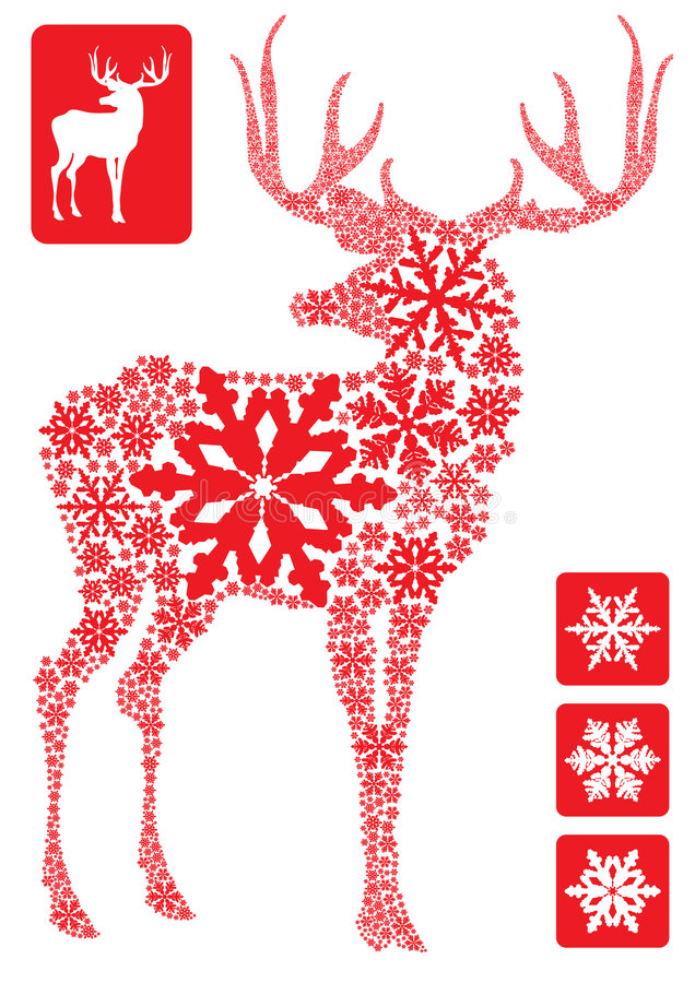 New year deer vector illustration