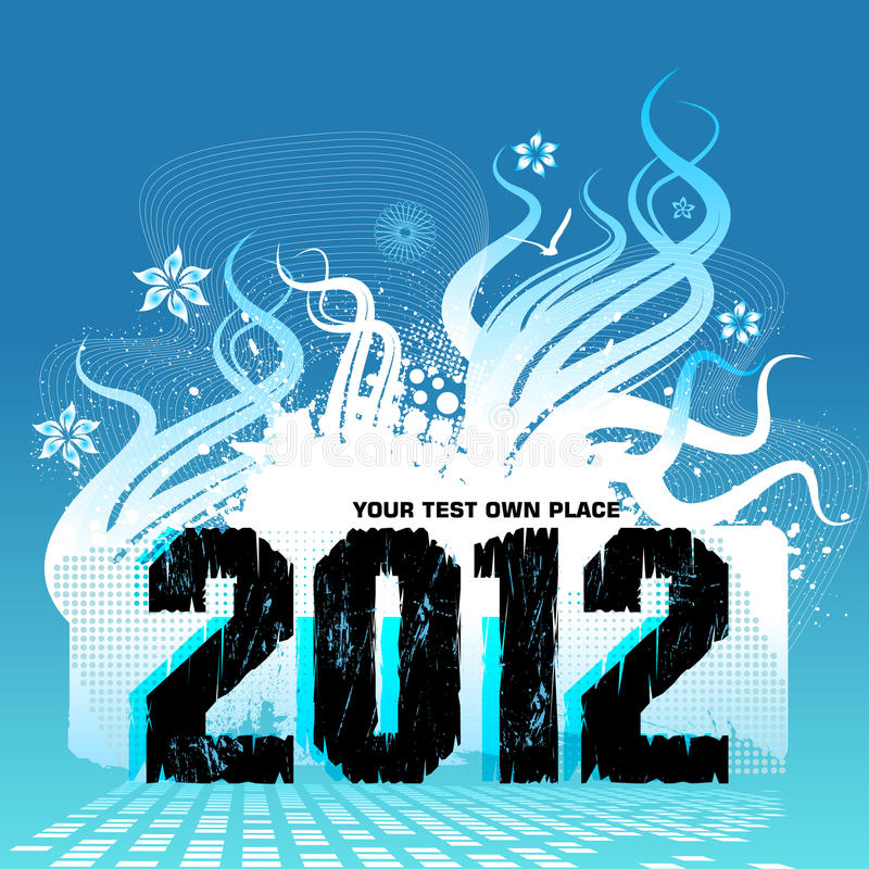 New Year Design 2012 Royalty Free Stock Photos