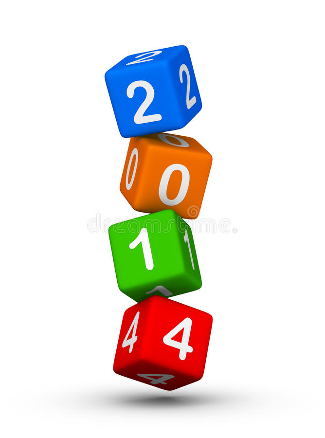 Download New year 2014 stock illustration. Image of cube, illustration - 33646183