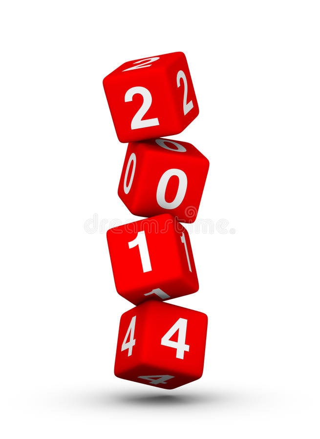 Download New year 2014 stock illustration. Illustration of cubes - 33646200