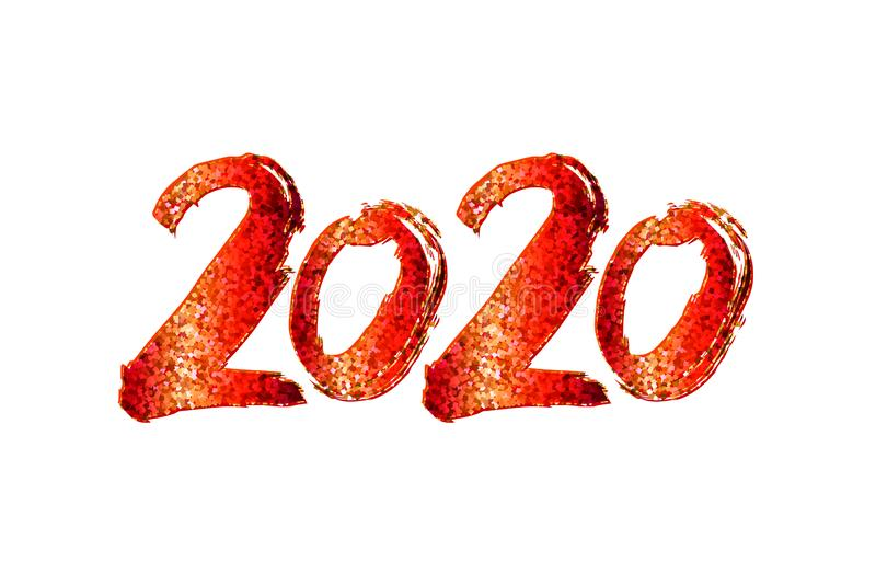 2020 New Year design royalty free stock images