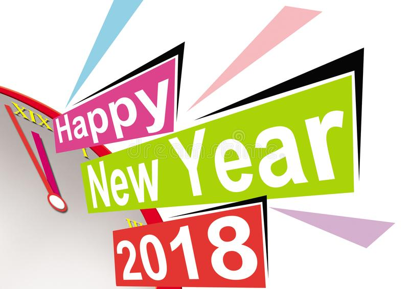 New year 2018 royalty free stock photo