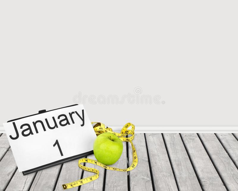New. Year diet health habit changing royalty free stock photos
