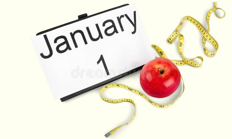 New. Year diet health habit isolated changing stock images