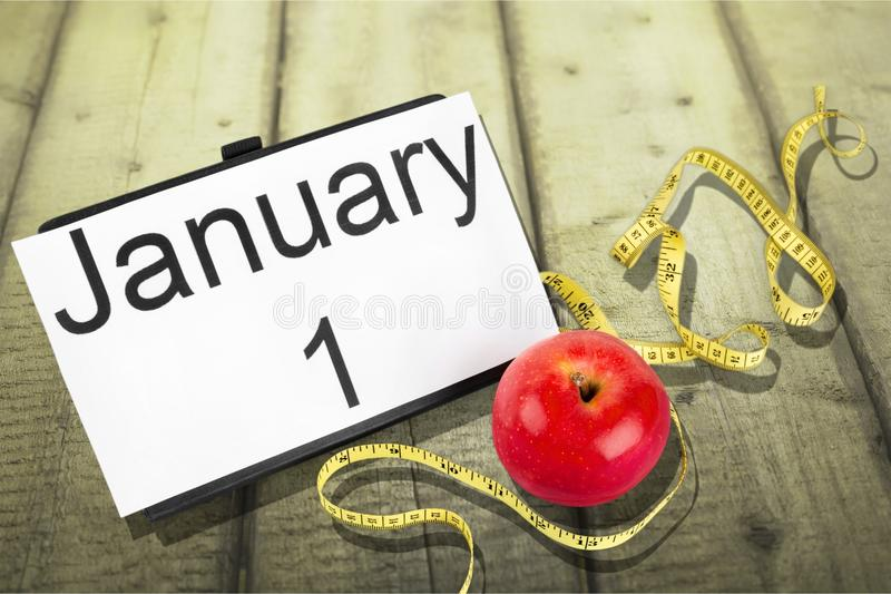 New. Year diet health habit isolated changing royalty free stock photo
