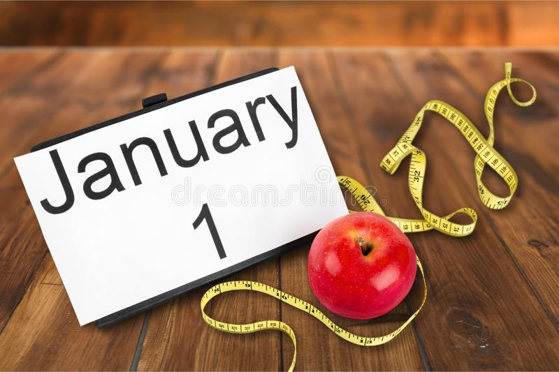 New year diet. Health habit isolated changing white target stock photos