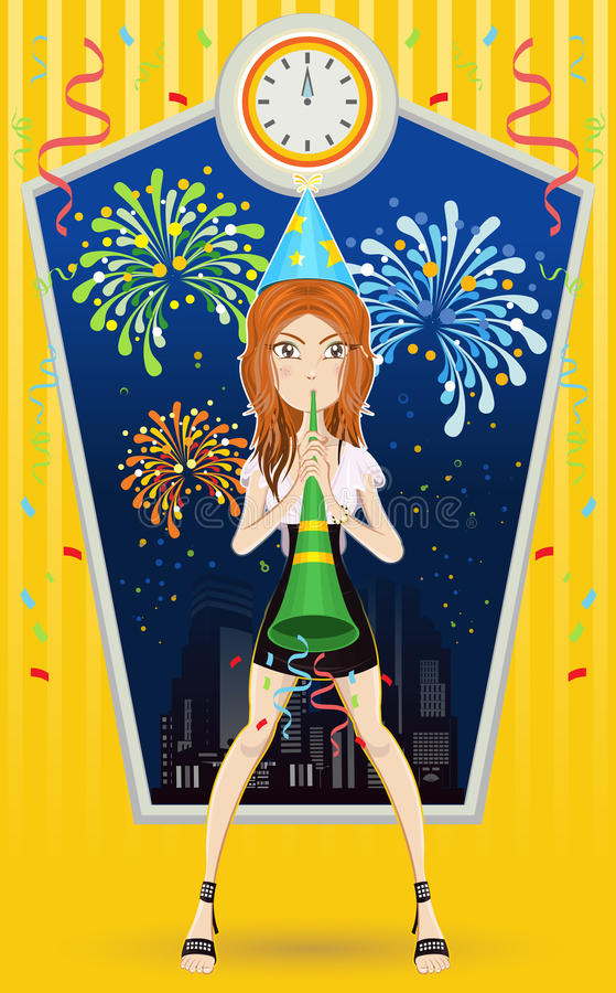 Download New Year Eve stock vector. Image of design, cityscape - 22527202