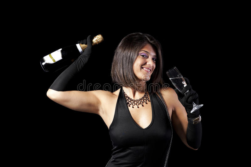 New year eve celebration stock photo