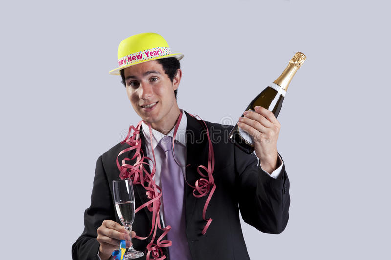 New year eve celebration stock image