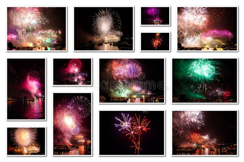 New year eve collage stock images