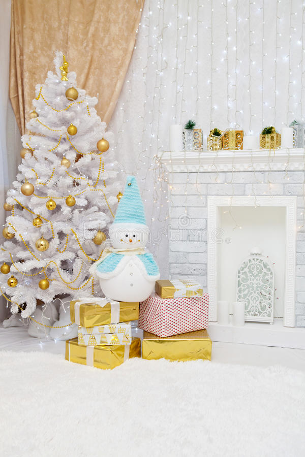 Free New Year Festive Interior. Stock Image - 81204601