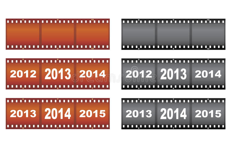 Download New Year filmstrips stock vector. Illustration of 2012 - 27971399