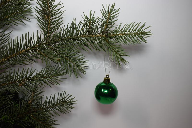 Happy new year and Christmas. New year fir tree green happy new year christmas, holiday winter december january happiness needles Christmas tree ball green royalty free stock photos