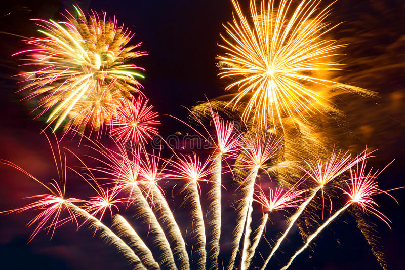Download New Year Fireworks On The Sky Royalty Free Stock Photo - Image: 24920095