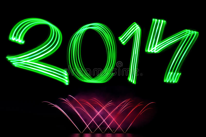 Download New Year 2014 With Fireworks Stock Photo - Image: 35234070