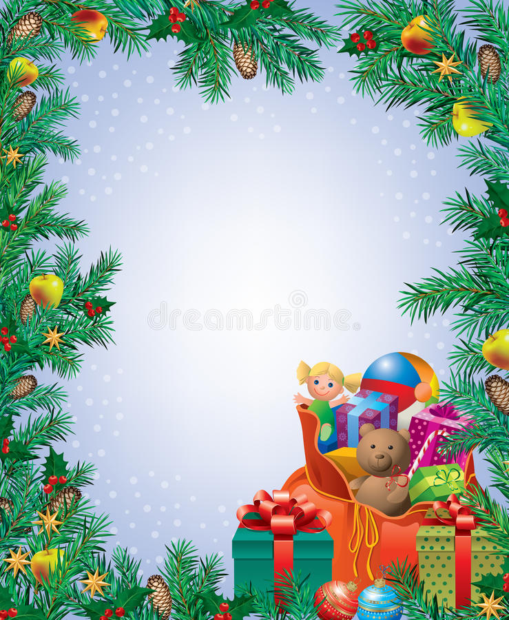 Download New Year frame stock vector. Image of snow, delicious - 26608363