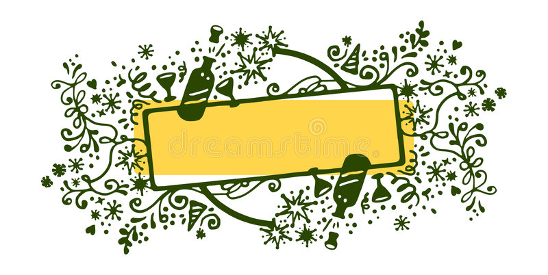 Download New year frame stock vector. Image of champagne, background - 6654274