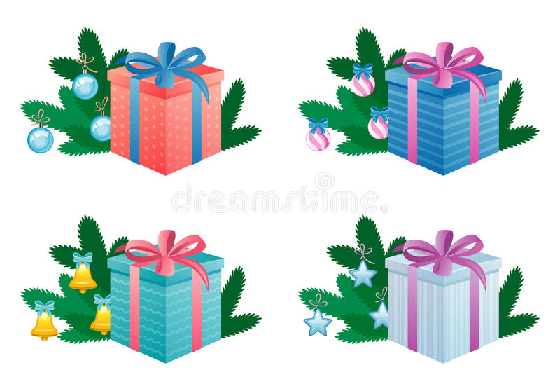 Download New Year gift stock vector. Image of parcel, packaging - 16768702
