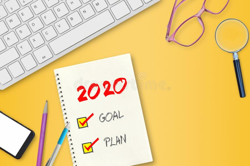 New Year 2020 concept. stock photo