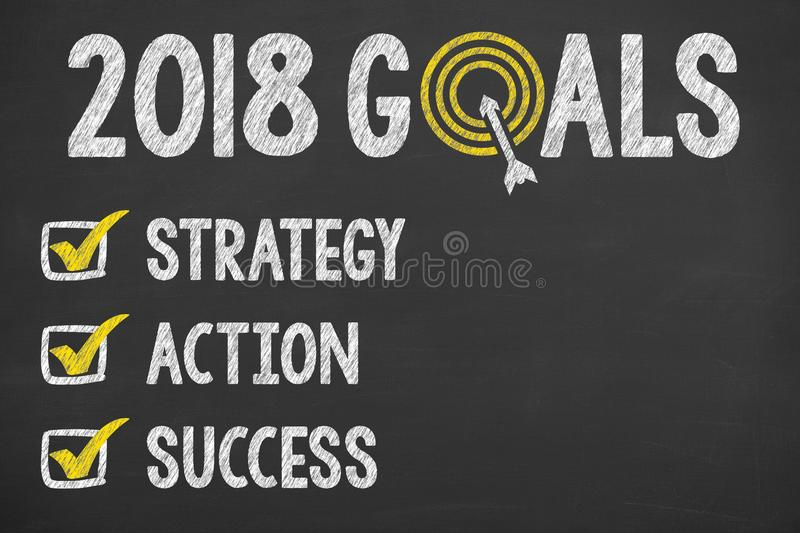 New Year 2018 Goals Check List royalty free stock photos