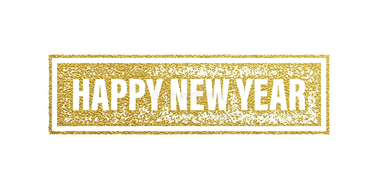 New Year 2017 gold foil textured banner. stock illustration